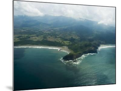 Nicoya Peninsula from the Air, Costa Rica, Central America-R H Productions-Mounted Photographic Print