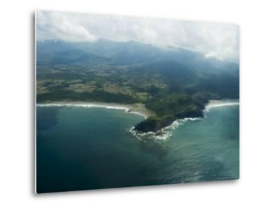 Nicoya Peninsula from the Air, Costa Rica, Central America-R H Productions-Metal Print