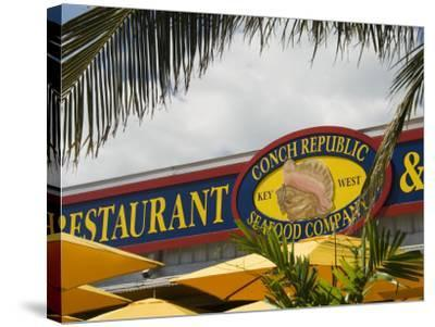 Conch Republic Restaurant Beside the Marina, Key West, Florida, USA-R H Productions-Stretched Canvas Print