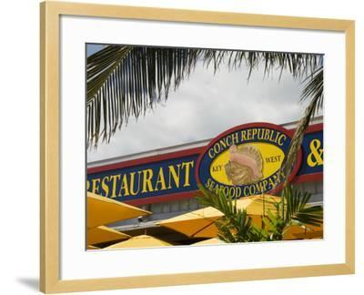 Conch Republic Restaurant Beside the Marina, Key West, Florida, USA-R H Productions-Framed Photographic Print