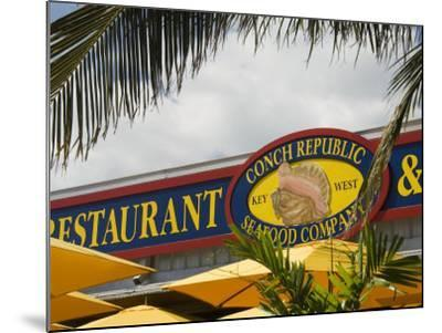 Conch Republic Restaurant Beside the Marina, Key West, Florida, USA-R H Productions-Mounted Photographic Print