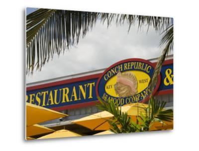 Conch Republic Restaurant Beside the Marina, Key West, Florida, USA-R H Productions-Metal Print
