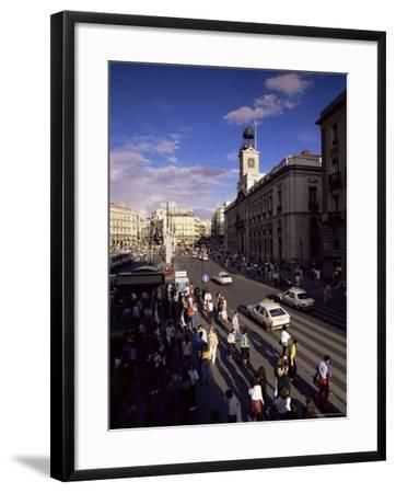 Puerta Del Sol, from the West, Madrid, Spain-Upperhall-Framed Photographic Print
