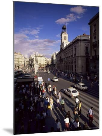 Puerta Del Sol, from the West, Madrid, Spain-Upperhall-Mounted Photographic Print