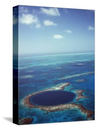 Blue Hole, Lighthouse Reef, Belize, Central America-Upperhall-Stretched Canvas Print