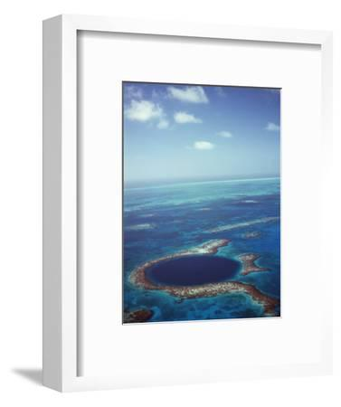 Blue Hole, Lighthouse Reef, Belize, Central America-Upperhall-Framed Photographic Print