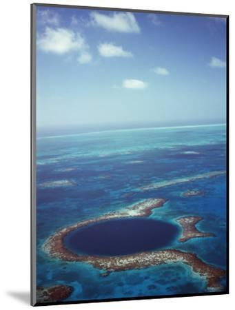Blue Hole, Lighthouse Reef, Belize, Central America-Upperhall-Mounted Photographic Print