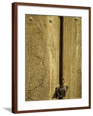Detail of the Gate of the Kunya Ark, Khiva, Uzbekistan, Central Asia-Upperhall-Framed Photographic Print
