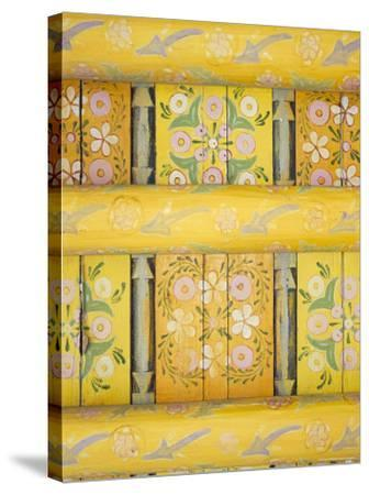 Painted Ceiling, the Harem, Tash Khauli Palace, Khiva, Uzbekistan, Central Asia-Upperhall-Stretched Canvas Print