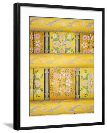Painted Ceiling, the Harem, Tash Khauli Palace, Khiva, Uzbekistan, Central Asia-Upperhall-Framed Photographic Print