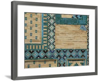 Close-Up of Turquoise Ceramics, Shah-I-Zinda Mausoleum, Samarkand, Uzbekistan, Central Asia-Upperhall-Framed Photographic Print