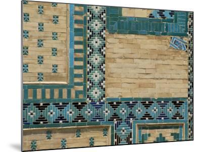 Close-Up of Turquoise Ceramics, Shah-I-Zinda Mausoleum, Samarkand, Uzbekistan, Central Asia-Upperhall-Mounted Photographic Print