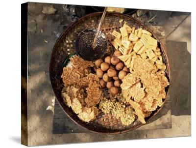 Snacks, Covered in Batter, Mingun, Myanmar (Burma)-Upperhall-Stretched Canvas Print