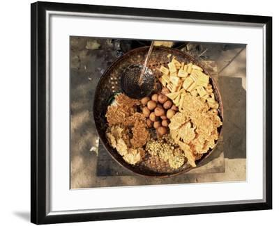 Snacks, Covered in Batter, Mingun, Myanmar (Burma)-Upperhall-Framed Photographic Print