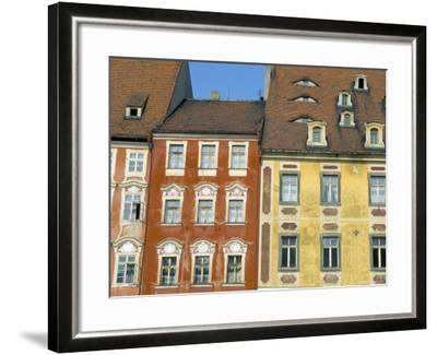 Medieval Market Square Buildings, Cheb, Bohemia, Czech Republic-Upperhall-Framed Photographic Print