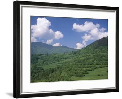 Typical Hilly Landscape, Vlkonec, Liptov Region, Slovakia-Upperhall-Framed Photographic Print