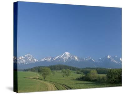 High Tatra Mountains from Near Poprad, Slovakia-Upperhall-Stretched Canvas Print