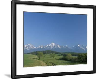 High Tatra Mountains from Near Poprad, Slovakia-Upperhall-Framed Photographic Print