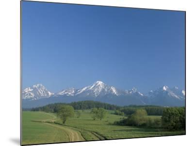 High Tatra Mountains from Near Poprad, Slovakia-Upperhall-Mounted Photographic Print