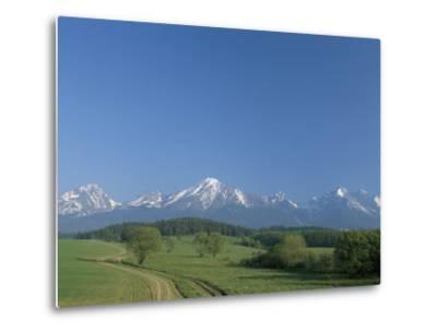 High Tatra Mountains from Near Poprad, Slovakia-Upperhall-Metal Print