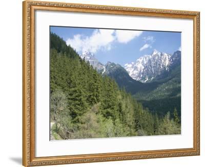 Hiker at Lomnicky Stit, High Tatra Mountains, Slovakia-Upperhall-Framed Photographic Print