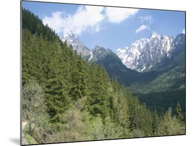 Hiker at Lomnicky Stit, High Tatra Mountains, Slovakia-Upperhall-Mounted Photographic Print