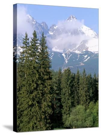 High Tatra Mountains from Tatranska Lomnica, Slovakia-Upperhall-Stretched Canvas Print