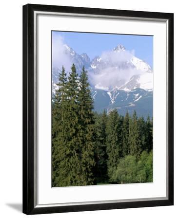 High Tatra Mountains from Tatranska Lomnica, Slovakia-Upperhall-Framed Photographic Print