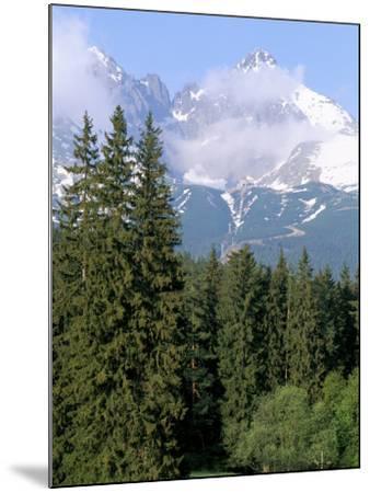 High Tatra Mountains from Tatranska Lomnica, Slovakia-Upperhall-Mounted Photographic Print
