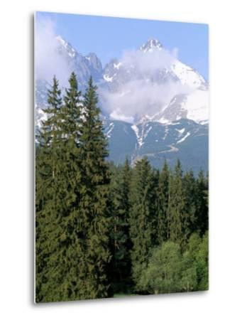 High Tatra Mountains from Tatranska Lomnica, Slovakia-Upperhall-Metal Print