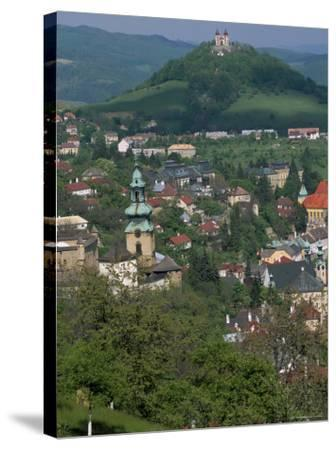View Over the Town, Banska Stiavnica, Unesco World Heritage Site, Slovakia-Upperhall-Stretched Canvas Print