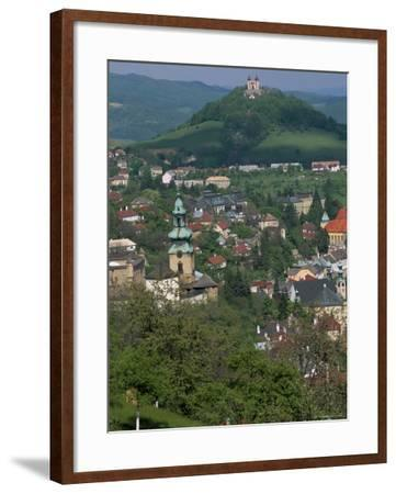View Over the Town, Banska Stiavnica, Unesco World Heritage Site, Slovakia-Upperhall-Framed Photographic Print