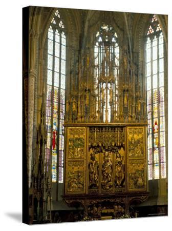 Altar in 14th Century Church of St. Jacob, Levoca, Slovakia-Upperhall-Stretched Canvas Print