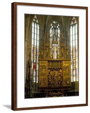 Altar in 14th Century Church of St. Jacob, Levoca, Slovakia-Upperhall-Framed Photographic Print