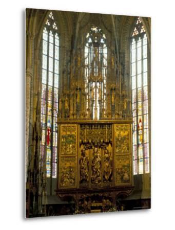 Altar in 14th Century Church of St. Jacob, Levoca, Slovakia-Upperhall-Metal Print