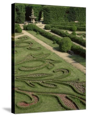 Garden of Flora, Kromeriz Palace, Unesco World Heritage Site, South Moravia, Czech Republic-Upperhall-Stretched Canvas Print