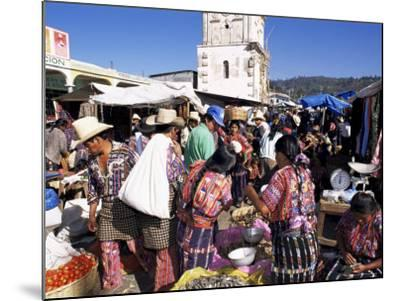 Women in Traditional Dress in Busy Tuesday Market, Solola, Guatemala, Central America-Upperhall-Mounted Photographic Print