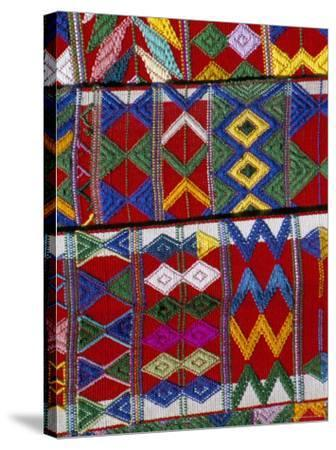 Detail of Local Weaving, Chichicastenango, Guatemala, Central America-Upperhall-Stretched Canvas Print