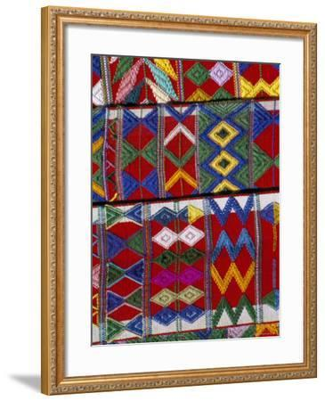 Detail of Local Weaving, Chichicastenango, Guatemala, Central America-Upperhall-Framed Photographic Print