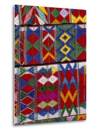 Detail of Local Weaving, Chichicastenango, Guatemala, Central America-Upperhall-Metal Print