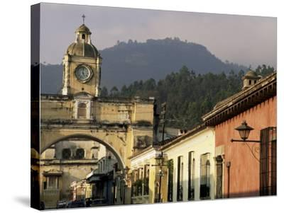 Arch of Santa Catalina, Dating from 1609, Antigua, Unesco World Heritage Site, Guatemala-Upperhall-Stretched Canvas Print