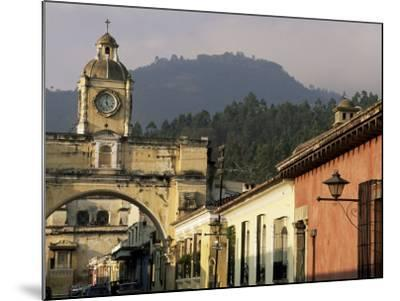Arch of Santa Catalina, Dating from 1609, Antigua, Unesco World Heritage Site, Guatemala-Upperhall-Mounted Photographic Print