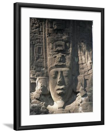 Close-Up of Stele E, Mayan Ruins, Quirigua, Unesco World Heritage Site, Guatemala, Central America-Upperhall-Framed Photographic Print