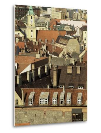 Old City Wall and City, Bratislava, Slovakia-Upperhall-Metal Print