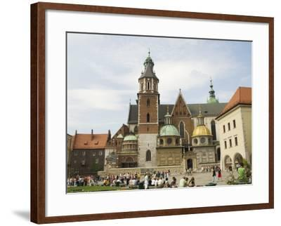 Wawel Cathedral, Royal Castle Area, Krakow (Cracow), Unesco World Heritage Site, Poland-R H Productions-Framed Photographic Print