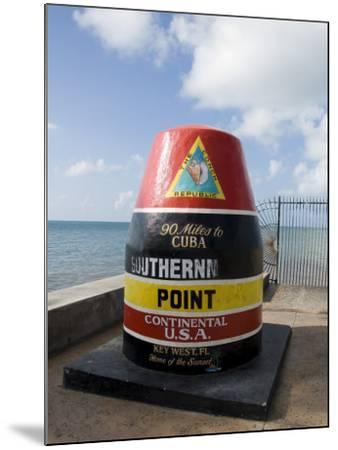 Old Buoy Used as Marker for the Furthest Point South in the United States, Key West, Florida, USA-R H Productions-Mounted Photographic Print