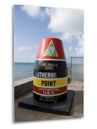 Old Buoy Used as Marker for the Furthest Point South in the United States, Key West, Florida, USA-R H Productions-Metal Print