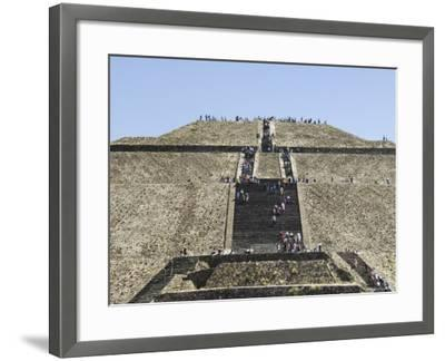 Pyramid of the Sun, Teotihuacan, 150Ad to 600Ad and Later Used by the Aztecs, North of Mexico City-R H Productions-Framed Photographic Print