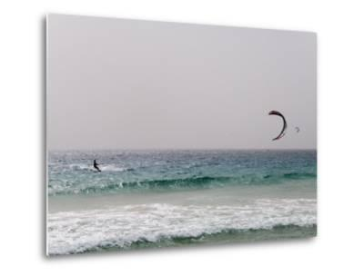 Kite Surfing at Santa Maria on the Island of Sal (Salt), Cape Verde Islands, Africa-R H Productions-Metal Print
