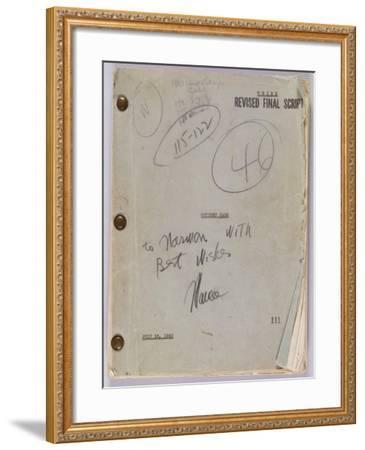 Final Script for Film 'Citizen Kane' with Annotations in Orson Welles' Hand, July 16th, 1940--Framed Giclee Print